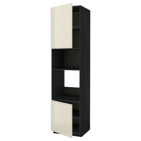 Высокий шкаф для духовки/СВЧ, 2 дверцы, полки МЕТОД черный артикуль № 991.659.97 в наличии. Интернет сайт IKEA Беларусь. Быстрая доставка и монтаж.