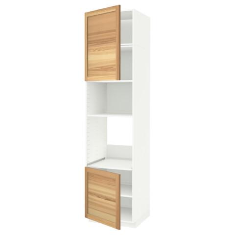 Высокий шкаф для духовки/СВЧ, 2 дверцы, полки МЕТОД белый артикуль № 991.660.01 в наличии. Интернет каталог IKEA РБ. Недорогая доставка и монтаж.