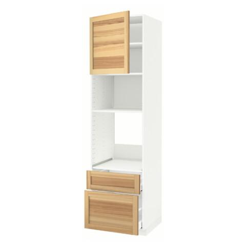 Высокий шкаф для духовки/СВЧ дверца, 2 ящика МЕТОД / МАКСИМЕРА белый артикуль № 391.535.96 в наличии. Онлайн сайт ИКЕА РБ. Быстрая доставка и установка.