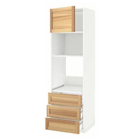 Высокий шкаф для духовки/СВЧ дверца, 3 ящика МЕТОД / МАКСИМЕРА белый артикуль № 391.535.82 в наличии. Онлайн магазин IKEA Минск. Быстрая доставка и монтаж.