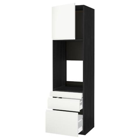 Высокий шкаф для двойной духовки, 3 ящика, дверца МЕТОД / МАКСИМЕРА белый артикуль № 191.310.15 в наличии. Онлайн каталог IKEA Беларусь. Недорогая доставка и монтаж.