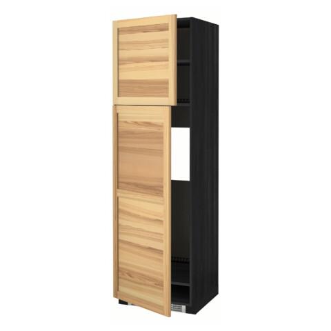 Высокий шкаф для холодильника, 2 дверцы МЕТОД черный артикуль № 991.347.22 в наличии. Онлайн магазин ИКЕА Республика Беларусь. Быстрая доставка и монтаж.