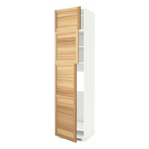 Высокий шкаф для холодильника, 3 дверцы МЕТОД белый артикуль № 091.348.25 в наличии. Интернет сайт IKEA РБ. Недорогая доставка и монтаж.