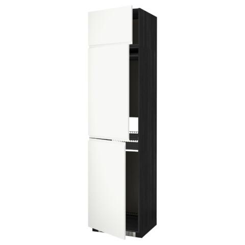 Высокий шкаф для холодильника или морозильника, с 3 дверями МЕТОД черный артикуль № 191.114.80 в наличии. Онлайн сайт IKEA Беларусь. Недорогая доставка и установка.