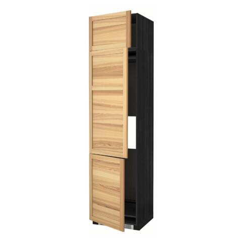 Высокий шкаф для холодильника или морозильника, с 3 дверями МЕТОД черный артикуль № 191.348.20 в наличии. Онлайн каталог IKEA РБ. Быстрая доставка и монтаж.