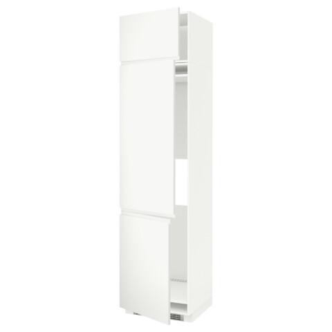 Высокий шкаф для холодильника или морозильника, с 3 дверями МЕТОД белый артикуль № 391.113.75 в наличии. Online сайт IKEA Минск. Недорогая доставка и установка.