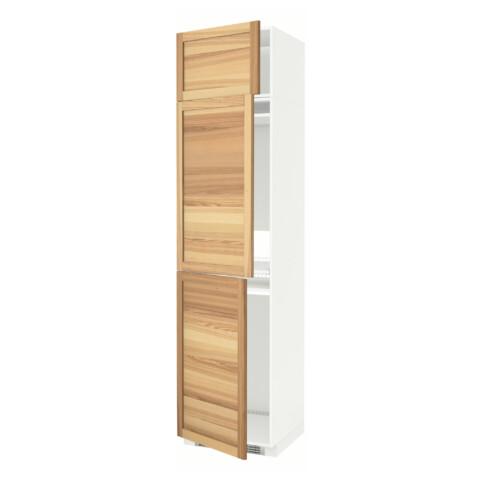 Высокий шкаф для холодильника или морозильника, с 3 дверями МЕТОД белый артикуль № 591.348.23 в наличии. Online сайт ИКЕА РБ. Быстрая доставка и монтаж.