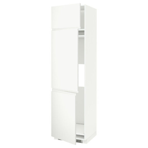 Высокий шкаф для холодильника или морозильника, с 3 дверями МЕТОД белый артикуль № 691.113.74 в наличии. Online сайт ИКЕА Минск. Быстрая доставка и соборка.