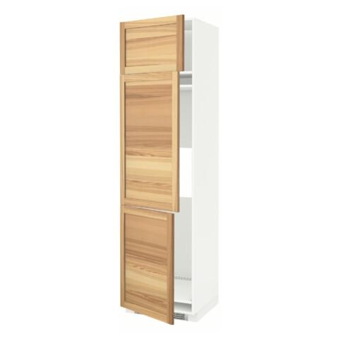 Высокий шкаф для холодильника или морозильника, с 3 дверями МЕТОД белый артикуль № 691.348.13 в наличии. Онлайн каталог IKEA Беларусь. Недорогая доставка и соборка.