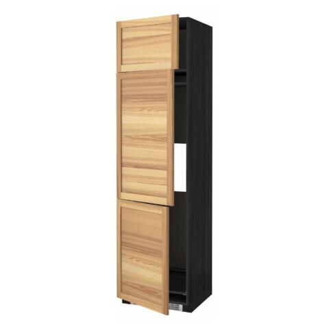 Высокий шкаф для холодильника или морозильника, с 3 дверями МЕТОД черный артикуль № 891.348.12 в наличии. Онлайн каталог IKEA Беларусь. Недорогая доставка и соборка.