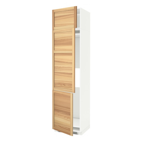 Высокий шкаф для холодильника или морозильника, с 3 дверями МЕТОД белый артикуль № 991.348.21 в наличии. Online сайт IKEA Минск. Недорогая доставка и соборка.
