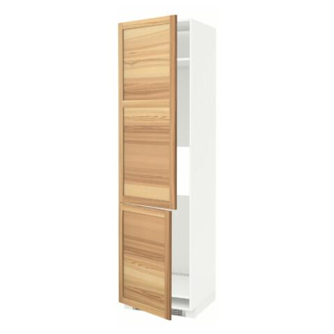 Высокий шкаф для холодильника/морозильника, 2 дверцы МЕТОД белый артикуль № 191.348.15 в наличии. Online магазин IKEA Минск. Быстрая доставка и соборка.
