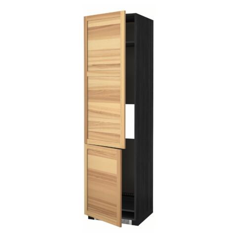 Высокий шкаф для холодильника/морозильника, 2 дверцы МЕТОД черный артикуль № 491.348.14 в наличии. Online сайт IKEA Республика Беларусь. Быстрая доставка и монтаж.