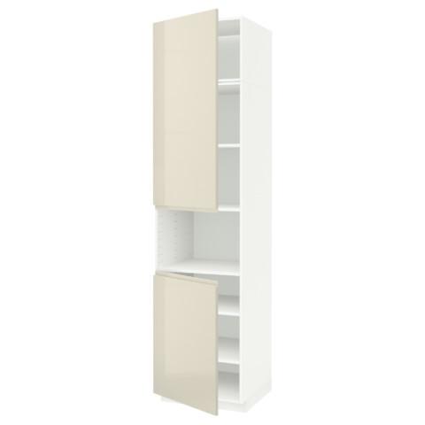 Высокий шкаф для/СВЧ, 2 дверцы, полки МЕТОД белый артикуль № 191.657.79 в наличии. Онлайн сайт IKEA РБ. Недорогая доставка и соборка.