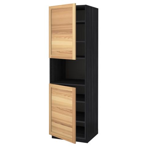Высокий шкаф для/СВЧ, 2 дверцы, полки МЕТОД черный артикуль № 291.348.34 в наличии. Интернет сайт IKEA РБ. Недорогая доставка и монтаж.