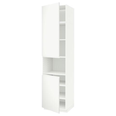 Высокий шкаф для/СВЧ, 2 дверцы, полки МЕТОД белый артикуль № 391.657.83 в наличии. Онлайн магазин IKEA РБ. Быстрая доставка и соборка.