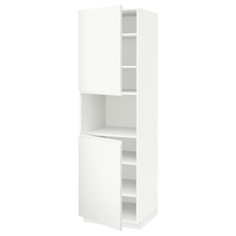 Высокий шкаф для/СВЧ, 2 дверцы, полки МЕТОД белый артикуль № 591.113.79 в наличии. Интернет сайт IKEA Республика Беларусь. Быстрая доставка и соборка.