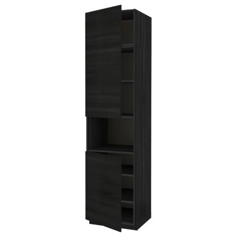 Высокий шкаф для/СВЧ, 2 дверцы, полки МЕТОД черный артикуль № 591.657.39 в наличии. Online сайт IKEA Беларусь. Быстрая доставка и установка.