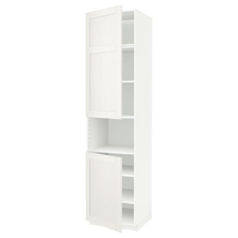 Высокий шкаф для/СВЧ, 2 дверцы, полки МЕТОД белый артикуль № 691.657.72 в наличии. Online магазин IKEA Беларусь. Быстрая доставка и соборка.