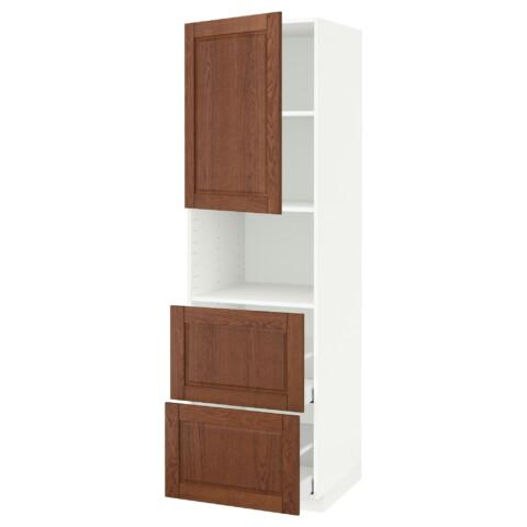 Высокий шкаф для СВЧ/дверца/2ящика МЕТОД / МАКСИМЕРА белый артикуль № 391.699.22 в наличии. Online сайт IKEA РБ. Недорогая доставка и монтаж.