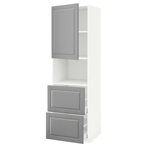 Высокий шкаф для СВЧ/дверца/2ящика МЕТОД / МАКСИМЕРА серый артикуль № 591.699.16 в наличии. Интернет магазин IKEA Минск. Недорогая доставка и установка.