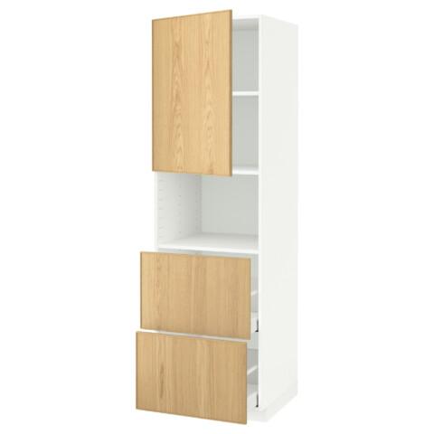 Высокий шкаф для СВЧ/дверца/2ящика МЕТОД / МАКСИМЕРА белый артикуль № 591.699.21 в наличии. Online каталог IKEA РБ. Недорогая доставка и установка.