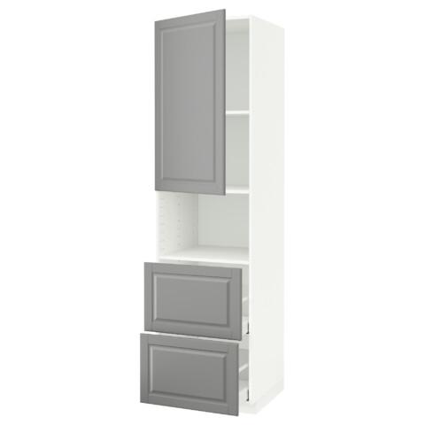 Высокий шкаф для СВЧ/дверца/2ящика МЕТОД / МАКСИМЕРА серый артикуль № 691.699.87 в наличии. Online сайт IKEA РБ. Недорогая доставка и установка.