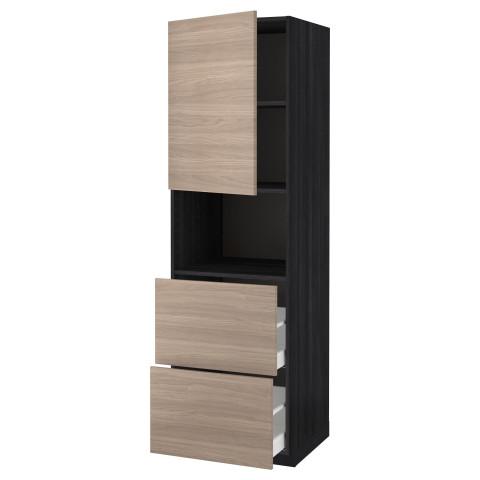 Высокий шкаф для СВЧ/дверца/2ящика МЕТОД / МАКСИМЕРА черный артикуль № 791.698.83 в наличии. Онлайн сайт IKEA Беларусь. Недорогая доставка и соборка.