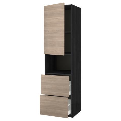 Высокий шкаф для СВЧ/дверца/2ящика МЕТОД / МАКСИМЕРА черный артикуль № 991.699.57 в наличии. Online каталог IKEA РБ. Быстрая доставка и монтаж.