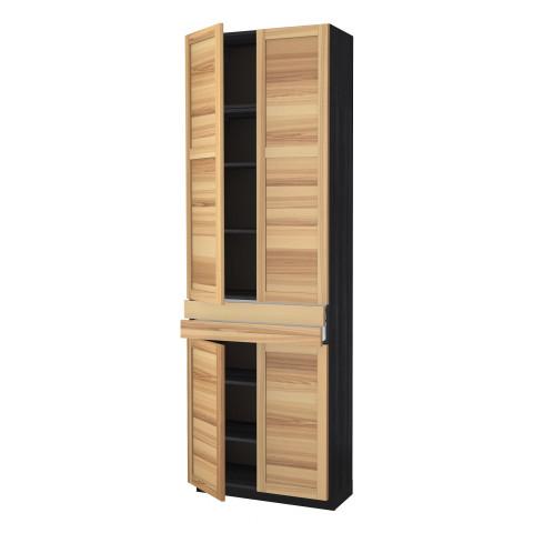 Высокий шкаф + полки, 2 ящика, 4 дверцы МЕТОД / МАКСИМЕРА черный артикуль № 891.535.65 в наличии. Онлайн сайт IKEA Беларусь. Быстрая доставка и установка.
