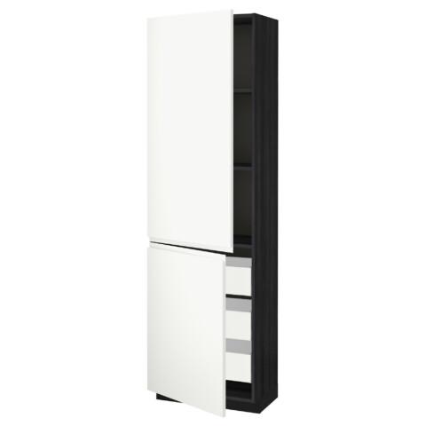 Высокий шкаф + полки, 3 ящика, 2 дверцы МЕТОД / МАКСИМЕРА черный артикуль № 091.309.69 в наличии. Онлайн магазин IKEA Беларусь. Недорогая доставка и монтаж.