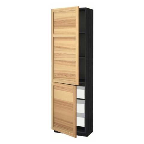 Высокий шкаф + полки, 3 ящика, 2 дверцы МЕТОД / МАКСИМЕРА черный артикуль № 391.535.63 в наличии. Интернет сайт IKEA РБ. Быстрая доставка и установка.