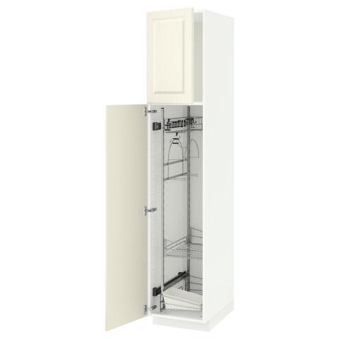 Высокий шкаф с отделением для аксессуаров, для уборки МЕТОД белый артикуль № 391.625.48 в наличии. Интернет каталог IKEA РБ. Недорогая доставка и монтаж.