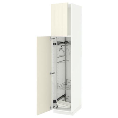 Высокий шкаф с отделением для аксессуаров, для уборки МЕТОД белый артикуль № 691.625.56 в наличии. Интернет магазин IKEA РБ. Быстрая доставка и установка.