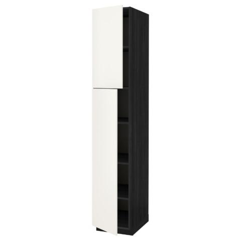 Высокий шкаф с полками, 2 дверцы МЕТОД черный артикуль № 091.640.54 в наличии. Online магазин ИКЕА РБ. Недорогая доставка и установка.