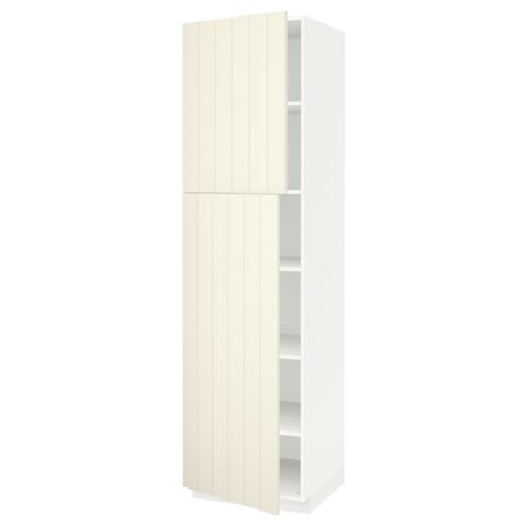 Высокий шкаф с полками, 2 дверцы МЕТОД белый артикуль № 191.625.06 в наличии. Online магазин IKEA Минск. Быстрая доставка и монтаж.