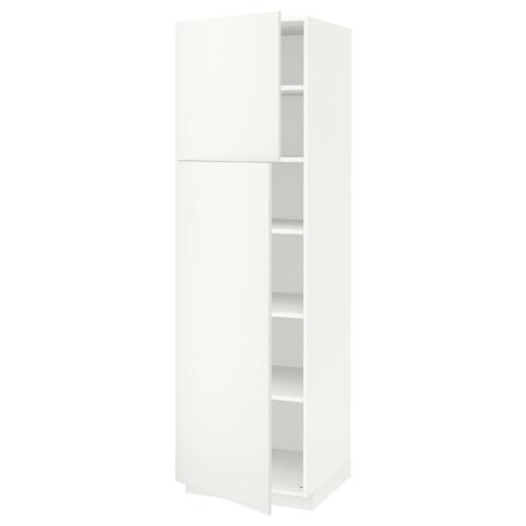 Высокий шкаф с полками, 2 дверцы МЕТОД белый артикуль № 191.640.01 в наличии. Online сайт IKEA Республика Беларусь. Недорогая доставка и установка.
