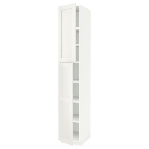 Высокий шкаф с полками, 2 дверцы МЕТОД белый артикуль № 191.641.43 в наличии. Online сайт IKEA Беларусь. Быстрая доставка и установка.