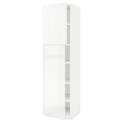 Высокий шкаф с полками, 2 дверцы МЕТОД белый артикуль № 291.624.74 в наличии. Онлайн магазин ИКЕА РБ. Быстрая доставка и соборка.