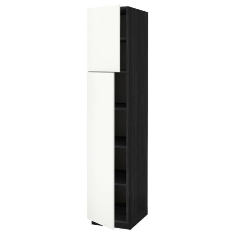 Высокий шкаф с полками, 2 дверцы МЕТОД белый артикуль № 291.639.06 в наличии. Онлайн магазин IKEA Беларусь. Быстрая доставка и монтаж.