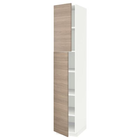 Высокий шкаф с полками, 2 дверцы МЕТОД белый артикуль № 391.640.57 в наличии. Online магазин IKEA Беларусь. Недорогая доставка и монтаж.