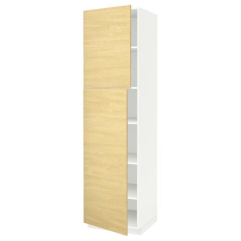 Высокий шкаф с полками, 2 дверцы МЕТОД белый артикуль № 491.624.87 в наличии. Интернет каталог IKEA Минск. Недорогая доставка и монтаж.