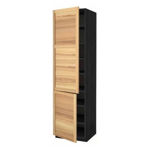 Высокий шкаф с полками, 2 дверцы МЕТОД черный артикуль № 591.346.44 в наличии. Онлайн магазин ИКЕА РБ. Быстрая доставка и монтаж.