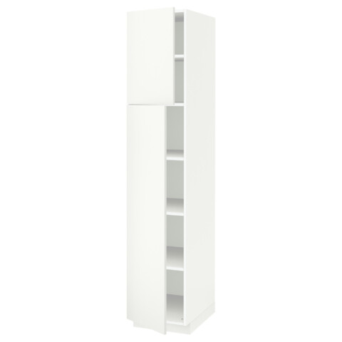 Высокий шкаф с полками, 2 дверцы МЕТОД белый артикуль № 591.639.38 в наличии. Online сайт IKEA Минск. Быстрая доставка и установка.