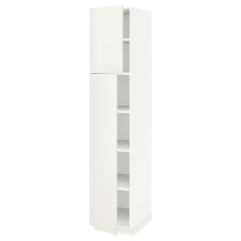 Высокий шкаф с полками, 2 дверцы МЕТОД белый артикуль № 591.639.57 в наличии. Интернет сайт IKEA РБ. Недорогая доставка и монтаж.