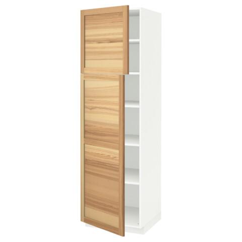Высокий шкаф с полками, 2 дверцы МЕТОД белый артикуль № 591.640.18 в наличии. Онлайн магазин ИКЕА Минск. Недорогая доставка и монтаж.