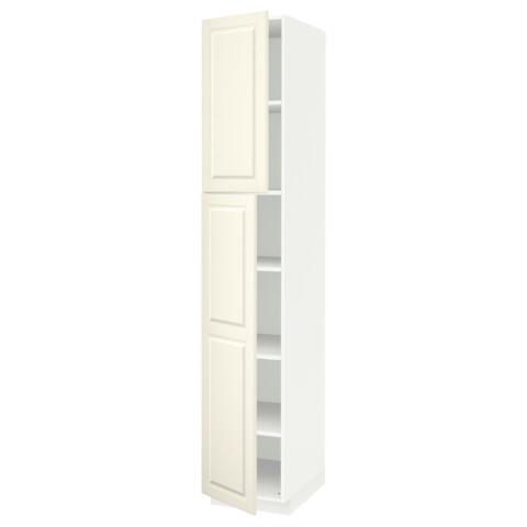 Высокий шкаф с полками, 2 дверцы МЕТОД белый артикуль № 591.640.56 в наличии. Онлайн сайт ИКЕА Республика Беларусь. Быстрая доставка и монтаж.