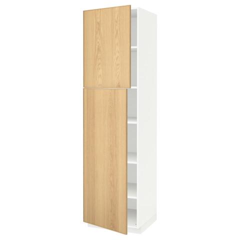 Высокий шкаф с полками, 2 дверцы МЕТОД белый артикуль № 691.624.48 в наличии. Онлайн каталог ИКЕА Минск. Недорогая доставка и установка.