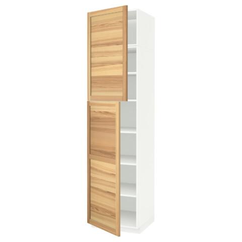 Высокий шкаф с полками, 2 дверцы МЕТОД белый артикуль № 691.642.11 в наличии. Online сайт IKEA РБ. Быстрая доставка и монтаж.