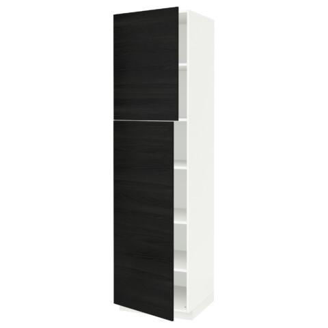 Высокий шкаф с полками, 2 дверцы МЕТОД черный артикуль № 791.624.76 в наличии. Онлайн магазин IKEA Республика Беларусь. Недорогая доставка и установка.